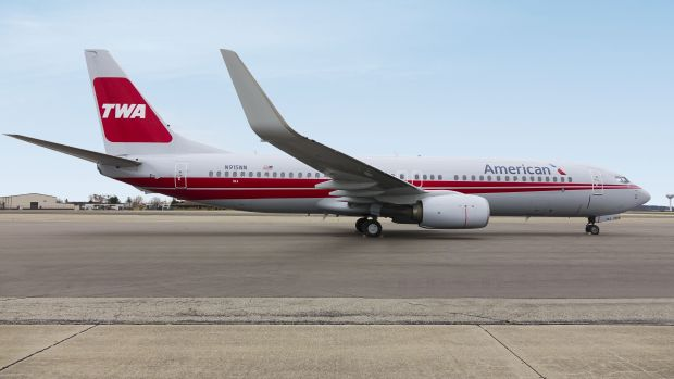 737-800 de American vestido de la mítica TWA (AA)