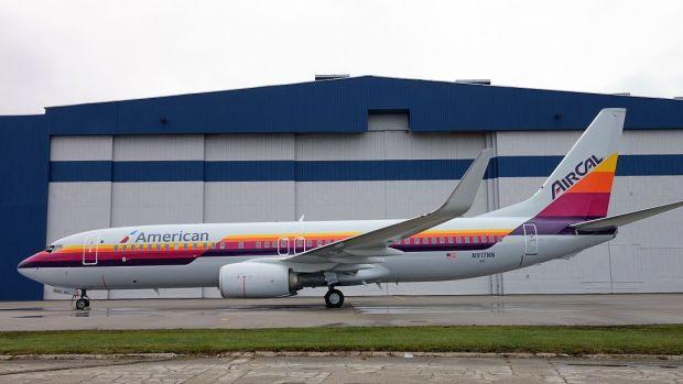 Librea de AirCal en 2015 revisitada por American (American Airlines)