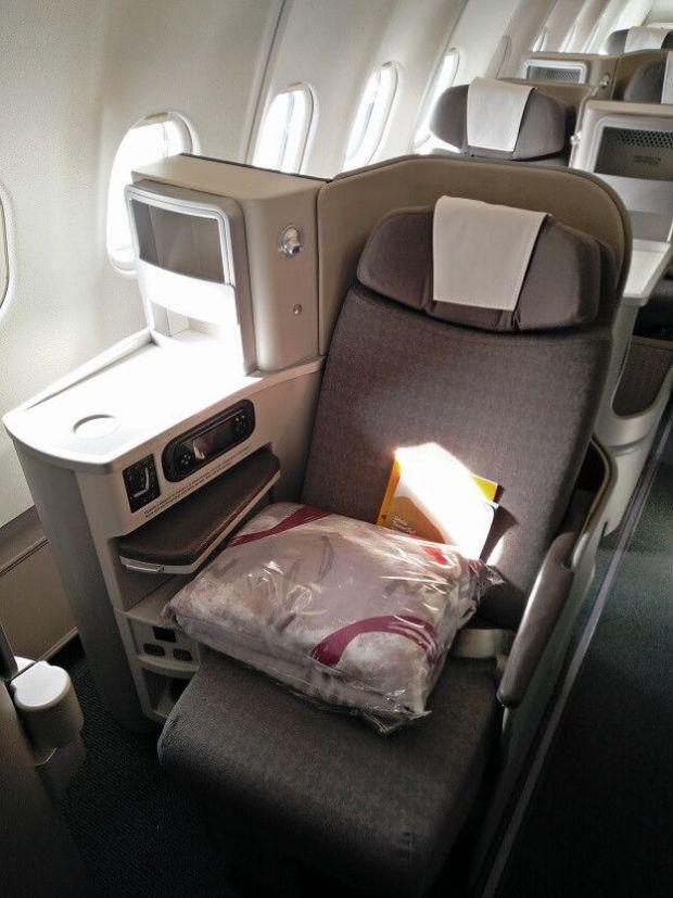 Asiento Business de Iberia en sus A340-600. Buena pinta saca!
