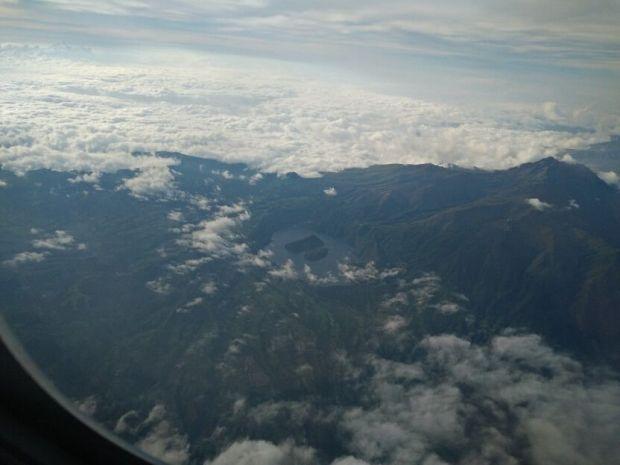 Un crater en los Andes con una isla en medio... brutal (si algún lector lo reconoce que avise!!)
