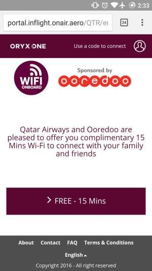 10Mb de Wi-Fi gratuito a bordo si viajes en Business con Qatar