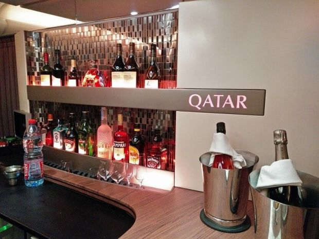 A380 business lounge Qatar