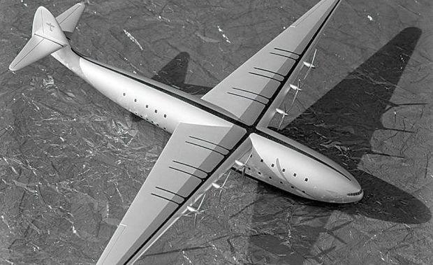 Maqueta del Boeing 326, la revisión de dos pisos del Clipper (Boeing)