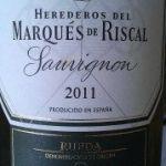 Herederos del Marqués de Riscal 2011: un serio Sauvignon blanc