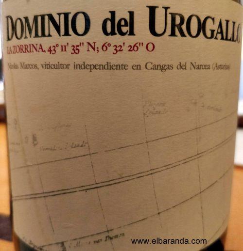 Etiqueta Dominio del Urogallo La Zorrina 2015