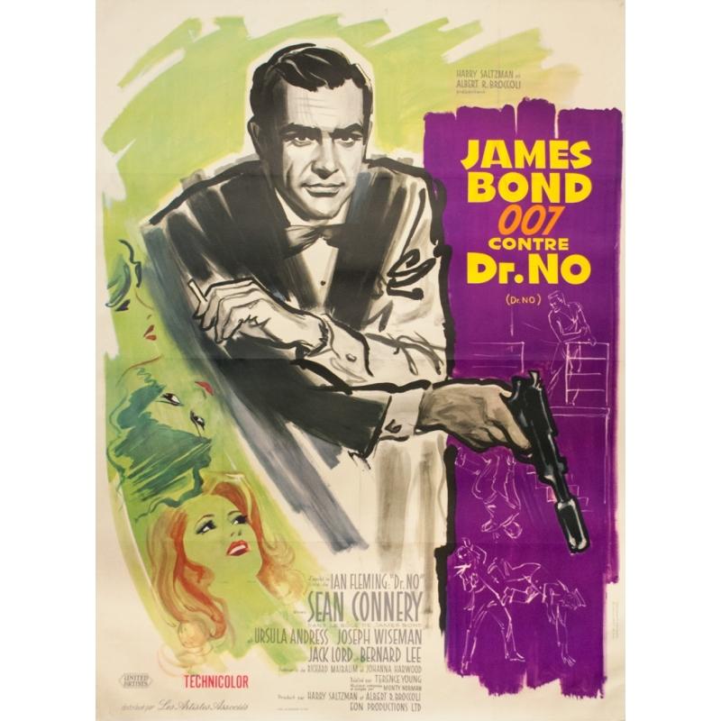 vintage movie poster james bond 007 vs dr no 1962