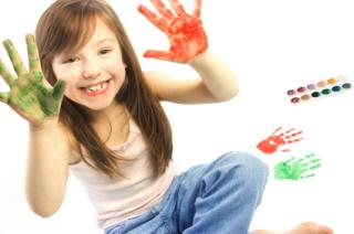 A los niños les encantar pintar