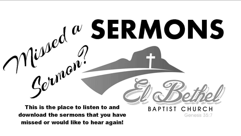 Sermons – El Bethel