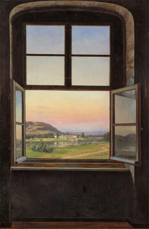 Image result for Blick auf einem Fenster auf Schloss Pillnitz