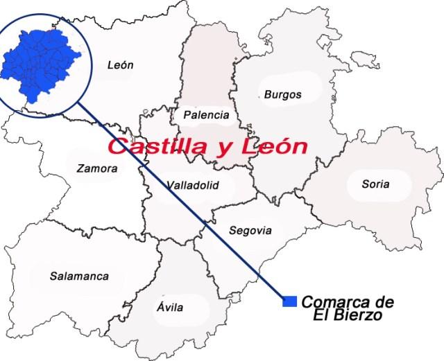 Mapa Del Bierzo Leon.El Bierzo