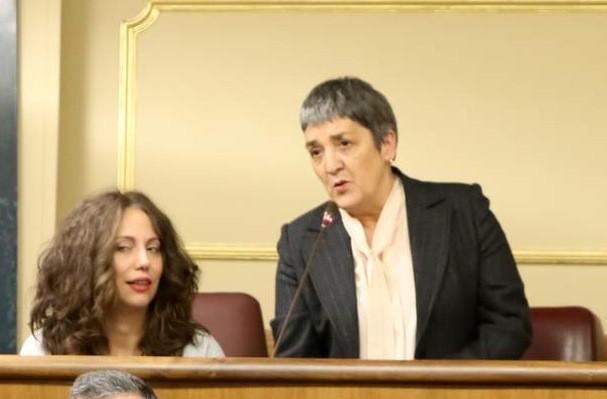 Las diputadas socialistas por León, Helena Castellano y Luisa González Santín