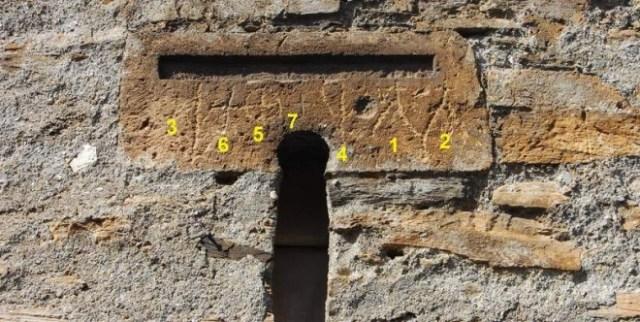 7. Peñalba. Grabados en Dintel Sacristía (Numerados)