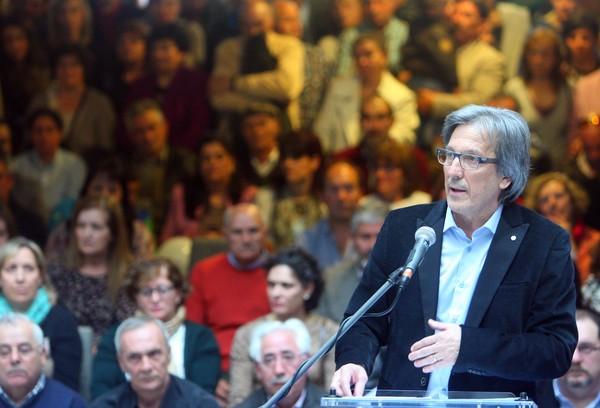 Pedro Muñoz, durante su discurso de presentación (C. Sánchez/Ical)