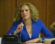 Imagen de la concejala de Ciudadanos, Ruth Santín, que ejerció de portavoz en el Pleno por ausencia de Rosa Luna. / QUINITO