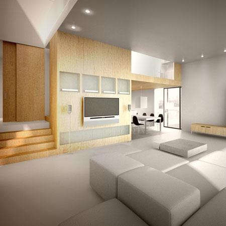 casa madera interior - Casa rural de madera de bajo consumo