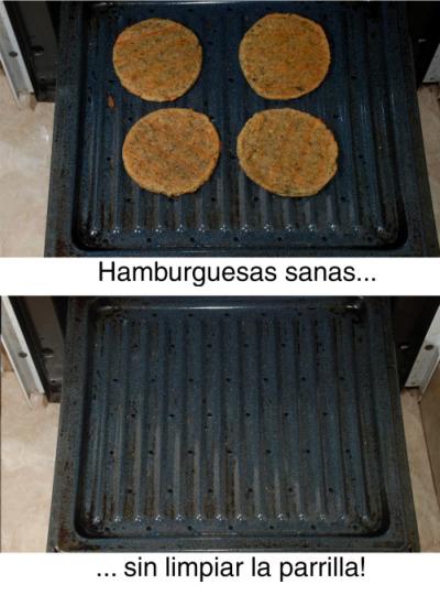 hamburguesa - Hamburguesas de soja a la parrilla