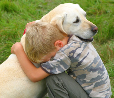 abrazo perro