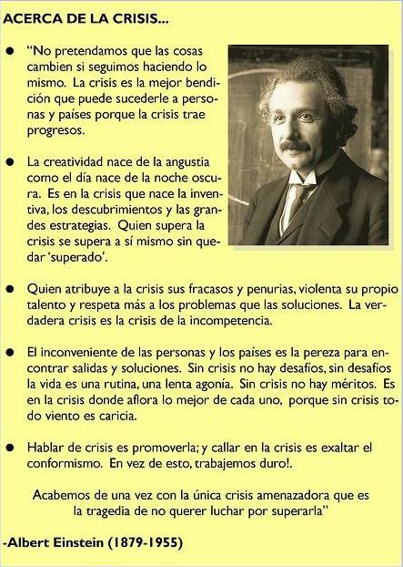 segun einstein - Einstein y su solución a la crisis
