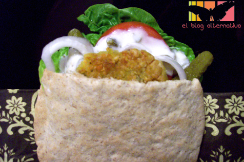 falafel pitas - receta de falafel