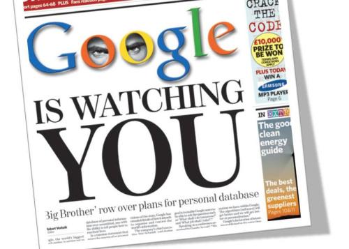google y la privacidad - Google te espía para mostrarte publicidad acorde con tus intereses