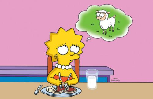 lisa vegetariana - Animales y amistad