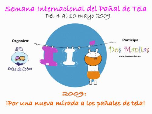 semana panal de tela - Semana Internacional del PAÑAL DE TELA: del 4 al 10 de mayo 2009 en Madrid