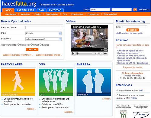 hazes falta - hacesfalta.org: portal de voluntariado y empleo solidarios