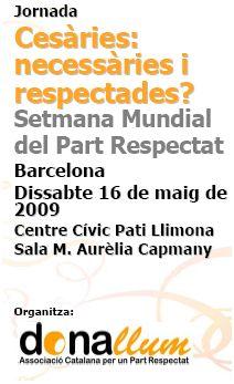partoesnuestro2 - Semana Mundial del Parto Respetado 2009. Jornadas el 8 de mayo en Madrid de El Parto es Nuestro y el 16 de mayo en Barcelona de Dona Llum