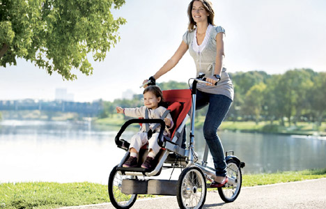 taga carrito y bicicleta
