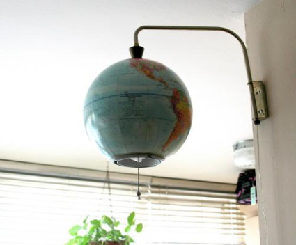 globo terráqueo lámpara