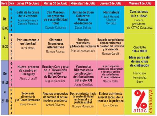 attac escuela de verano - CONSTRUYENDO ALTERNATIVAS: Escuela de verano gratuita para adultos por un mundo mejor del 29 de junio al 3 de julio 2009 en Barcelona