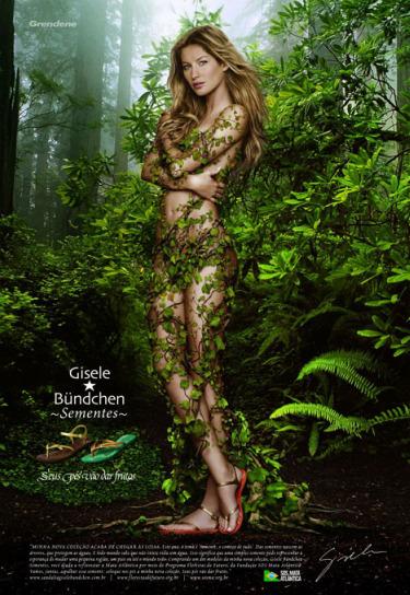 gisele22 - GISELE BÜNDCHEN, sus sandalias Ipanema y sus desnudos a favor del medio ambiente