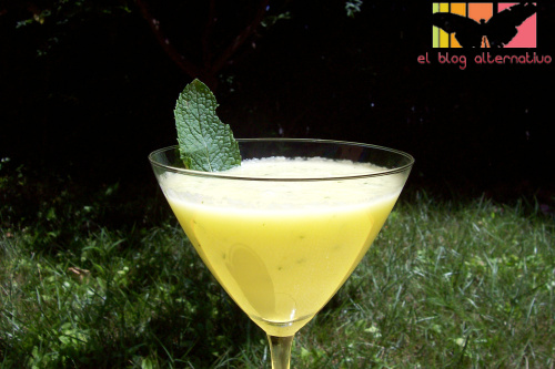 sopa melon - sopa-melon con menta y limón