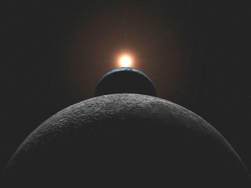 sun earth moon - 2001, UNA ODISEA EN EL ESPACIO: la visión profética, poética y abstracta de Stanley Kubrick sobre el cambio de era
