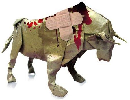 toro herido - tortura animal