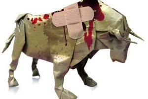 """toro herido - I CONCURSO DE CARTELES """"Contra la tortura animal en tradiciones y fiestas"""""""