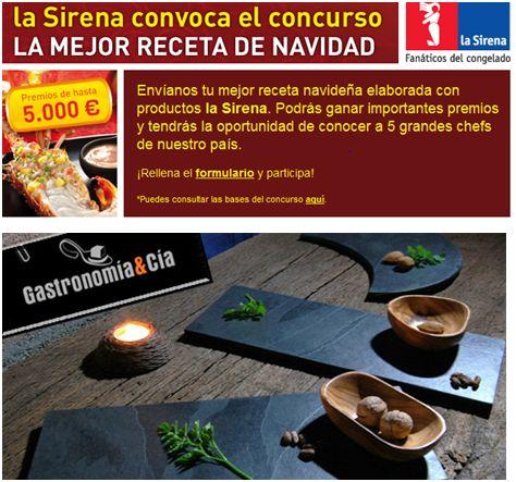 concurso cocina - Dos interesantes concursos de cocina con buenos premios en La Sirena y Gastronomía & Cía
