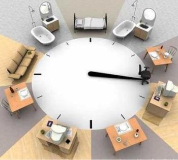 reloj horarios