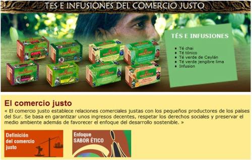 saboretico - SABOR ÉTICO: infusiones y otros productos de comercio justo