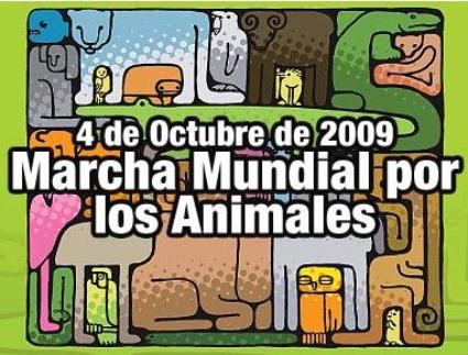 marchaporlosanimales1 - Día Mundial de los Animales 4 de octubre 2009