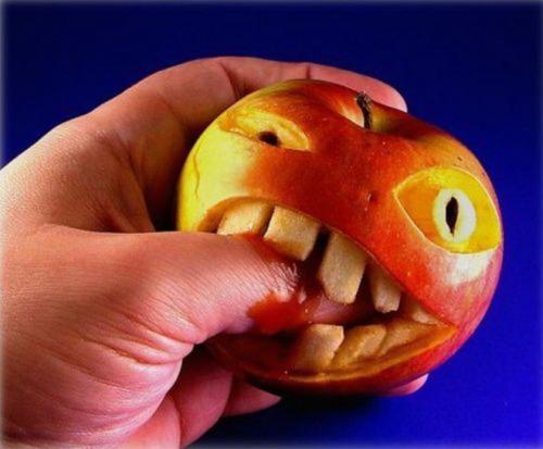 manzana mala - manzana-art food