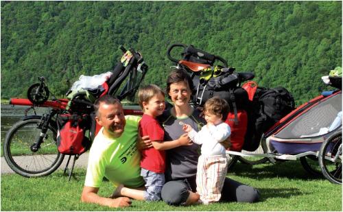 familia1 - Bicicleta y lactancia en tándem y a viajar en familia por el mundo