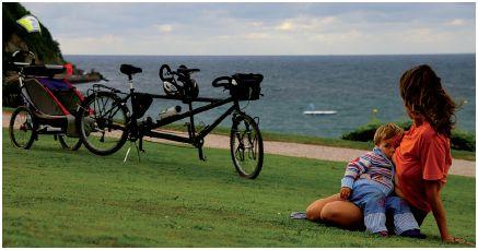 familia4 - Bicicleta y lactancia en tándem y a viajar en familia por el mundo