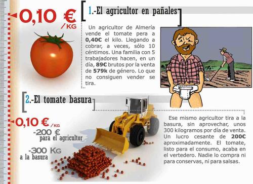 Los tomates del campo a la mesa: un viaje demasiado caro