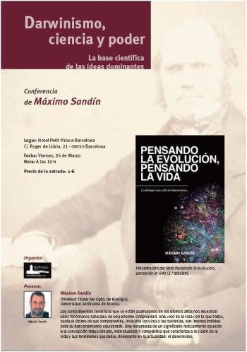 darwin1 - Darwinismo, ciencia y poder: conferencia del biólogo Máximo Sandín en Barcelona