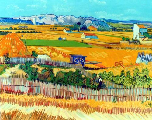 la cosecha van gogh replica - ¿Dónde están las campesinas?