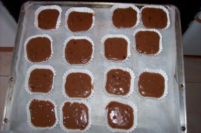 magdalenas de espelta con chocolate