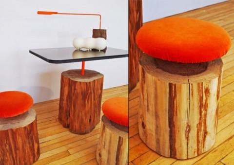 muebles madera ilan2 480x339 - 5 ideas para decorar con troncos y ramas