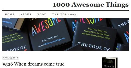1000 awesome things - 1000 cosas geniales, sencillas, positivas, gratuitas y universales