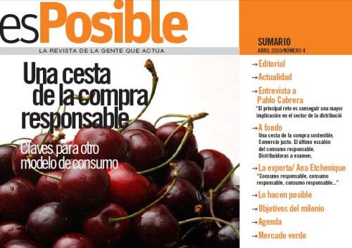 esposible una cesta de la compra responsable1 - Revista esPosible nº 4: Una cesta de la compra responsable